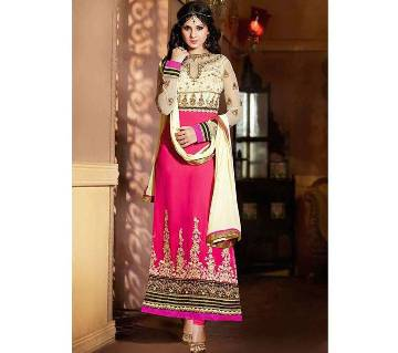 Semistitched Georgette Embroidery Three Piece (Copy)