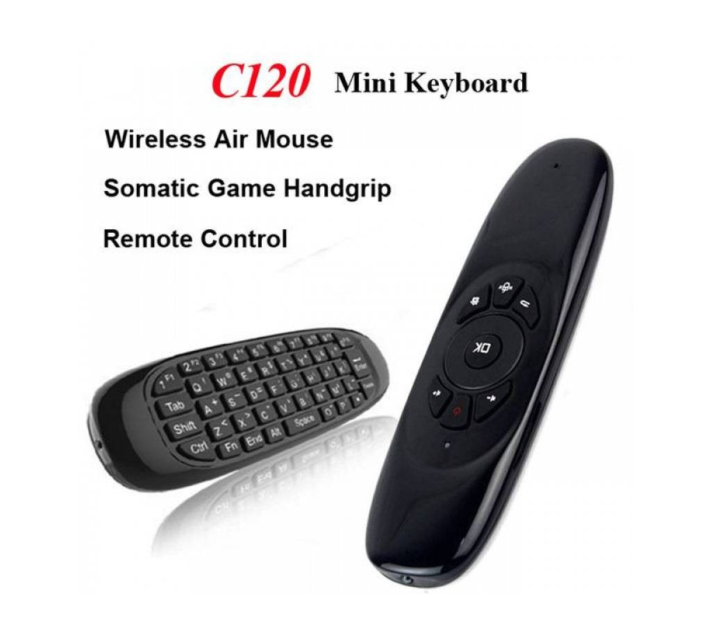 C120 2.4GHz Mini Wireless Air Mouse with Keyboard বাংলাদেশ - 718190