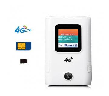 4G Wifi Pocket Router 6000mAH Power Bank With Sim Card Slot LCD Display Up to 10 User