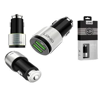 LDNIO C4303 Dual USB Port 4.2A Quick Car Charger with Android Micro USB Cable