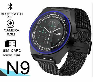 N9 Smart Watch Sim Supported Metal Body Pedometer With Camera