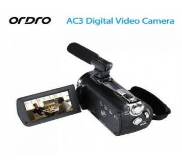 ORDRO AC3 4K Ultra HD 60FPS Video Camera with Wifi External Microphone Handy camera