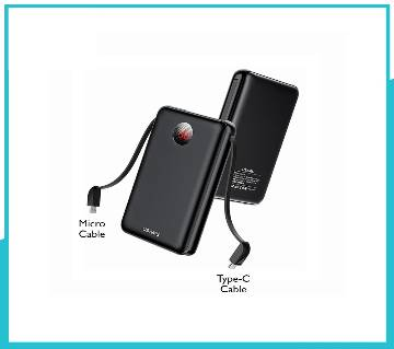 Usams PB13 Digital Power Bank With Micro & Type-C Attached Cables