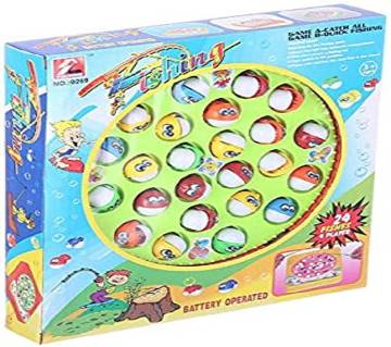 Fishing Game Kids Toy 24 Fishes 4 Players