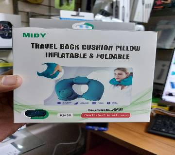 RH38 Travel Back Cushion Pillow inflatable & Foldable Adjusting Hand Pump