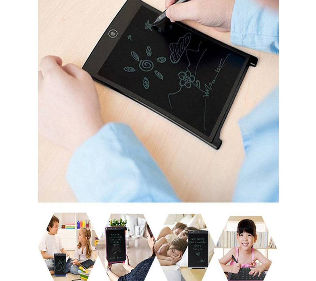 Kids 8.5 Inch Digital LCD রাইটিং ড্রয়িং বোর্ড ট্যাবলেট বাংলাদেশ - 993040