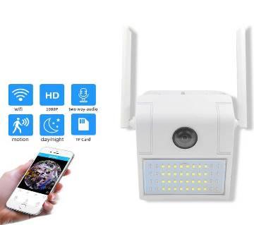 Outdoor V380 Wifi Wall Lamp Camera Water-Proof Night Vision Motion Sensor Light 1080P
