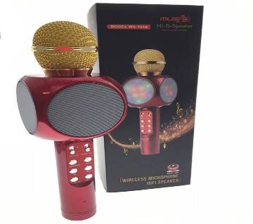 WS1816 Wireless Bluetooth Karaoke Microphone Mic USB Speaker Home KTV Play