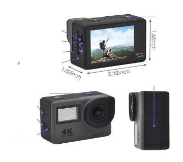 Action Camera 4K Waterproof Sports Camera With Remote Control DVR Cam