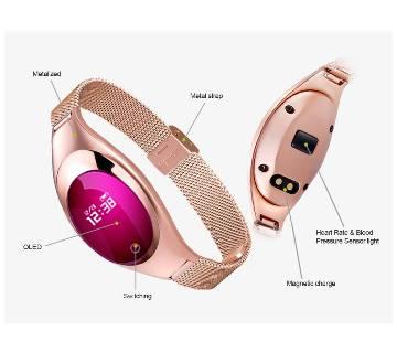 Z18 উইমেন স্মার্ট ব্রেসলেট Blood Pressure Heart Rate Fitness Monitor water-proof intact
