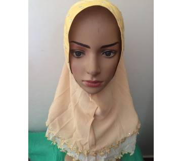 Double layered ready hijab