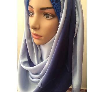 Dual color shaded pure silk maxi hijab