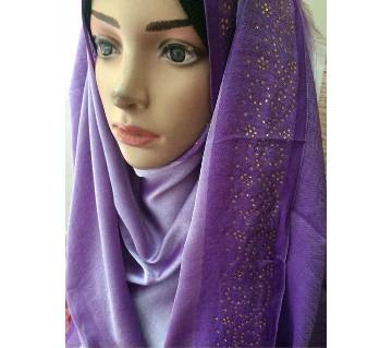 Turkish Silk Pashmina Hijab with Shaded Border
