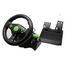 4 In 1 USB Gaming Steering Wheels With Vibration