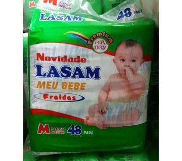 Lasam বেবি ডায়াপার  M(৪৮ পিস)