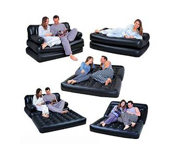 5 in 1 Inflatable Double Air Bed cum Sofa