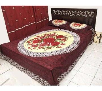 Cotton double size bedsheet set
