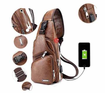 HAODIER Crossbody Leather Backpack - Brown