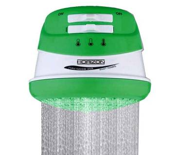 Instant Electric Hot Water Shower-green and white color