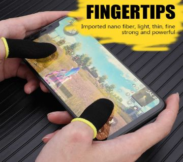 1 Pair Breathable PUBG Mobile Finger Sleeve Press Trigger Game Controller Sweat-proof Gloves for PUBG Mobile Gaming - Blue Colour / Finger Grip For Ga