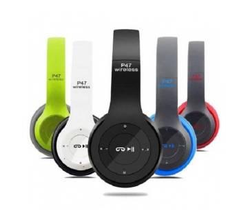 Wireless Bluetooth Headphone P47 - Red