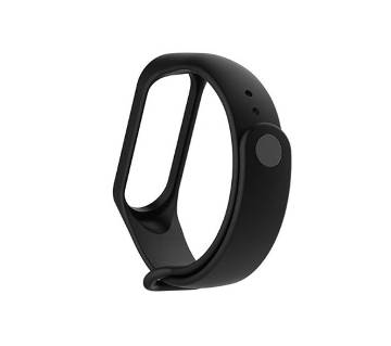 Replacement Strap Silicon Watch Band for Xiaomi Mi Band 3/4 Smart Bracelet - Black