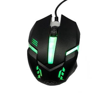 M6 7 Color Light Gaming Mouse - Black