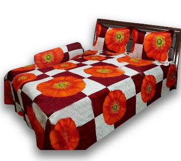 Cotton Printed Double Size Bed Sheet Set