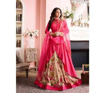 Indian semistitched replica anarkoli georgette suit