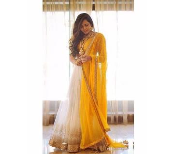 Indian semistitched replica georgette anarkoli suit
