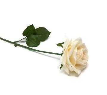 Artificil white rose stick
