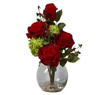 Artificial rose flower plant