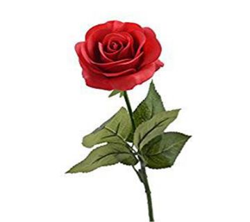 Artificial red rose stick
