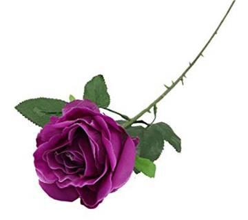 Artificial purple rose stick