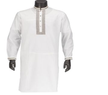 Off White Cotton Punjabi For Men