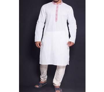 Cotton Punjabi For Men (White)