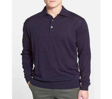 Gents Full Sleeve Cotton Polo-Shirt