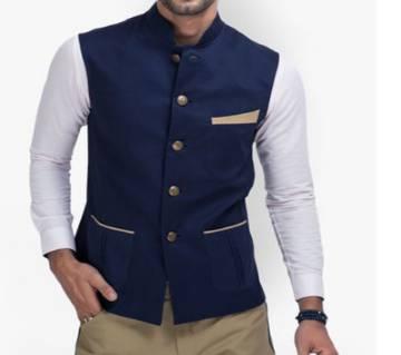 Waist Coat For Men - Blue