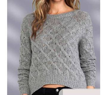 Ladies Full Sleeve Cotton Short Sweater