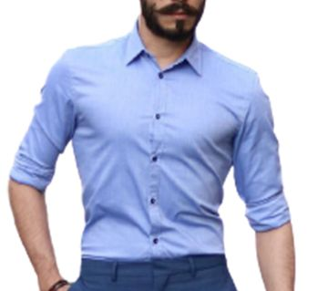 Cotton Long sleeve shirt for Men Sky Blue