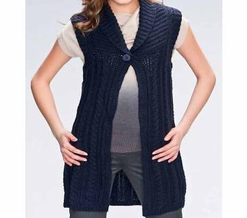 Ladies Sleeveless Cotton Sweater