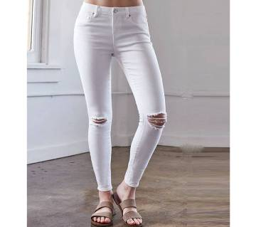 Ladies Twill Cotton Slim Fit Pant