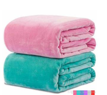 Pack of 2 Micro Fiber Plain Blanket