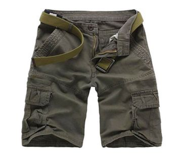 Olive Green 2 Quarter Pant For Men