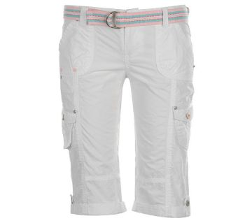 White Cotton Shorts For Men
