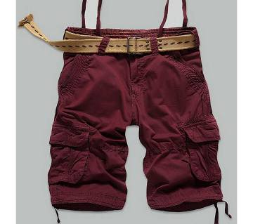 Cotton Shorts For Men - Maroon