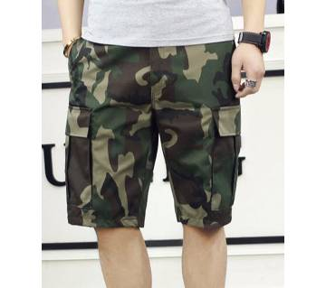 Mens Fashion With Army Printed Quarter Pant