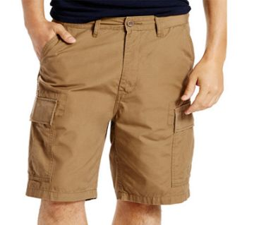 Khaki Cotton Quarter Pant For Men