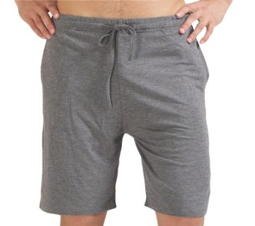 Grey Cotton Shorts For Men