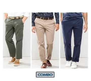 Combo of  3 Gaberdine Pant For Men